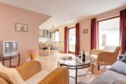 Wohnzimmer eines Ferienhauses in Rechlin